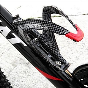 cheap Bike Frames-Bike Water Bottle Cage Carbon Fiber For Cycling Bicycle Carbon Fiber Black 1 pcs