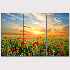 cheap Prints-Print Stretched Canvas Prints - Landscape Traditional Modern Three Panels Art Prints