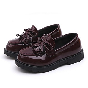 cheap Kids' Oxfords-Boys' / Girls' Comfort PU Loafers & Slip-Ons Little Kids(4-7ys) Black / Burgundy Summer