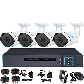 cheap DVR Kits-AHD 8CH DVR Monitoring Equipment Set Infrared Night Vision HD Camera 2 Million Monitor