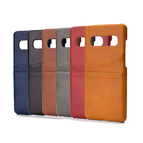 cheap Video Door Phone Systems-Case For Samsung Galaxy J6(2018) J8(2018) A6 A6Plus A7(2018) A9(2018) S10 S10E S10Plus M10 M20 M30 Card Holder Shockproof Back Cover Solid Colored TPU