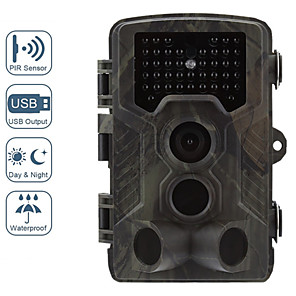 cheap CCTV Cameras-1080P HD Wildlife Trail Hunting Camera with Motion Activated Night Vision 120 Wide Angle Lens IP65 Waterproof Wildlife Scouting Camera