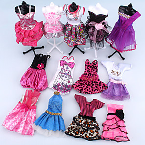 cheap Dolls Accessories-Doll Dress For Barbiedoll Pink Polyester Dress For Girl's Doll Toy / Kids