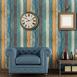 cheap Wallpaper-Wallpaper Vinylal Wall Covering - Self adhesive Art Deco / Wood Grain