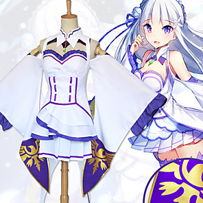 cheap Anime Costumes-Inspired by Re:Zero Starting Life in Another World kara hajimeru isekai seikatsu Cosplay Anime Cosplay Costumes Japanese Cosplay Suits Dress Socks Headwear For Women's
