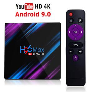 cheap Car DVD Players-H96 Max Rk3318 Smart Tv Box Android 9.0 4GB Ram 32GB 64GB 4k Wifi Media Player Google Voice Assistant Netflix Youtube Hdr Bt4.0 Usb 3.0 Airplay Goole Play Set Top Box 2GB 16GB H96max