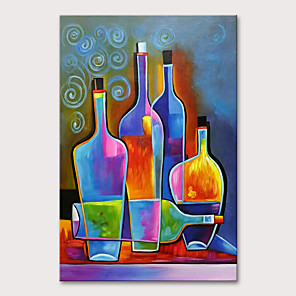 cheap Still Life Paintings-Oil Painting Hand Painted - Still Life Modern Rolled Canvas