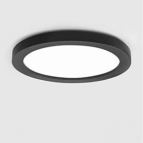 cheap Pendant Lights-1-Light LED Ceiling Light Modern Round Flush Mount Lights Ambient Light Painted Finishes Metal