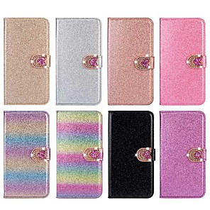 cheap Samsung Case-Case For Samsung Galaxy A51 / M40S / A71 Wallet / Shockproof Love  Diamond Glitter PU Leather Case For Samsung S20 Plus / S20 Ultra/A20e/A50s/A30s/A10/A60/A70/A80/S10 Lite/S10 5G/S10 Plus/Note 10 Plus