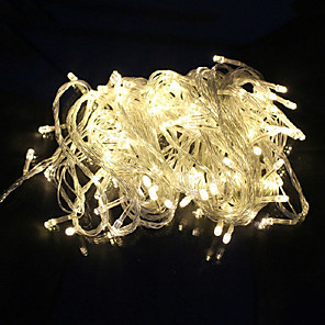 cheap LED String Lights-10m String Lights 100 LEDs 1pc Warm White White Red Creative Party Wedding 110-120 V