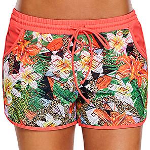 cheap Wetsuits, Diving Suits & Rash Guard Shirts-Women's Swim Shorts Swim Trunks Elastane Bottoms Swimming Beach Water Sports Patchwork Summer