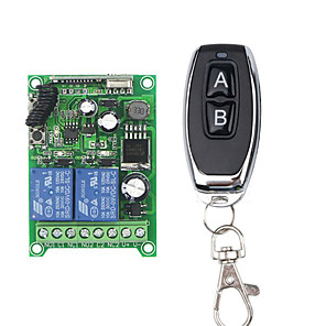 cheap Robots & Accessories-DC12V 2CH /DC24V DC48V Remote Control Switch / 2 Relay with 10A / LED ON OFF/ Momentary /Toggle with Learning code Receiver 433mhz