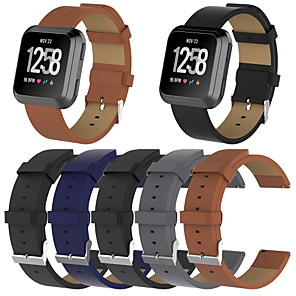 cheap Smartwatch Bands-Watch Band for Fitbit Versa / Fitbit Versa Lite Fitbit Leather Loop Genuine Leather Wrist Strap