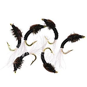 cheap Fishing Lures & Flies-6 pcs Flies Flies Sinking Bass Trout Pike Fly Fishing Metal