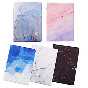 cheap iPad case-Case For Apple iPad 2/3 /4 / Air/Air 2/ mini 1 / 2 / 3/ mini 4 /mini 5/ iPad(2018)/iPad(2017) Dustproof / with Stand / Pattern Full Body Cases Marble PU Leather / TPU
