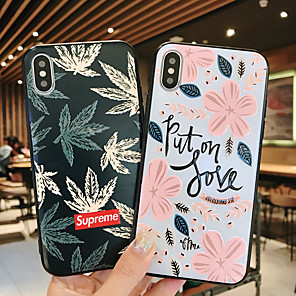 cheap USB Chargers-Case For Apple iPhone XS / iPhone XR / iPhone XS Max Ultra-thin / Pattern Back Cover Word / Phrase / Scenery TPU