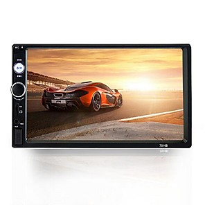 cheap Car DVD Players-7010B 7 inch 2 DIN In-Dash Car DVD Player Car MP5 Player Car Multimedia Player Touch Screen Bluetooth Speaker for universal USB 2.0 AUX TF Card Slot AVI MOV DAT MP3 WMA WMV RM RMVB FLV