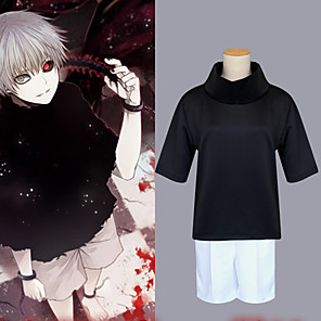 cheap Anime Costumes-Inspired by Tokyo Ghoul Spirited Away Ken Kaneki Anime Cosplay Costumes Japanese Cosplay Suits Top Pants For Men's