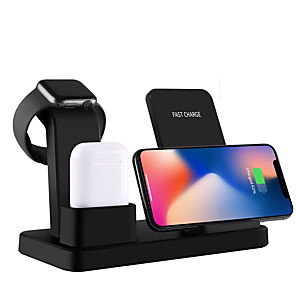 cheap Wireless Chargers-10W Qi Wireless Charger Stand For Iphone X 7 8 3 IN 1 Fast Charger Quick Charge For Apple Watch Fast Wireless Charging Base