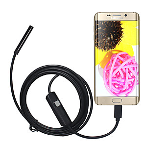 cheap Test, Measure & Inspection Equipment-5.5mm Lens USB Endoscope Camera Waterproof IP67 Inspection Borescope Soft 3M Length for Android PC