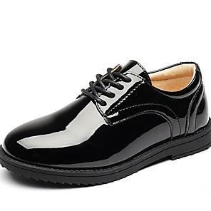 cheap Kids' Oxfords-Boys' Comfort Patent Leather Oxfords Little Kids(4-7ys) Black Summer