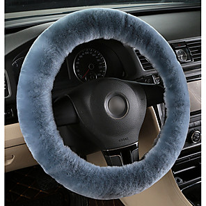 cheap Steering Wheel Covers-Teak  Wool Soft Steering Wheel Cover Guard Truck Car Accessory
