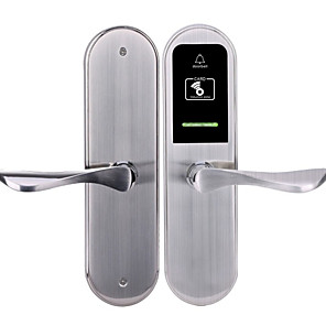 cheap Door Locks-Factory OEM KDLY2018RF Stainless Steel Card Lock Smart Home Security Android System RFID Hotel Wooden Door (Unlocking Mode Card)
