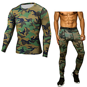 cheap Men's Activewear Sets-JACK CORDEE Men's Activewear Set Workout Outfits Compression Suit Athletic Winter Thermal Warm Windproof Fitness Gym Workout Basketball Running Sportswear Skinny Blue and White White Black Red Army