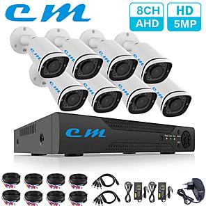cheap NVR Kits-8CH AHD Monitoring System Set 5 Million Camera 5MP CCTV DVR One Machine