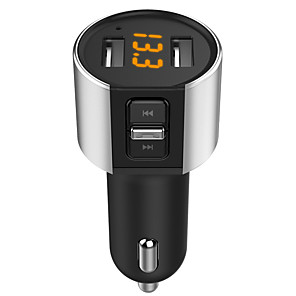 cheap Bluetooth Car Kit/Hands-free-5V/3.4A Bluetooth Fm Transmitter Aux Wireless Audio Player Car Kit Handsfree Fm Modulator Dual USB Charger Hands-free