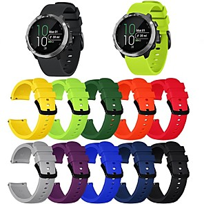 cheap Smartwatch Bands-Watch Band for Vivoactive 3 Garmin Classic Buckle Silicone Wrist Strap