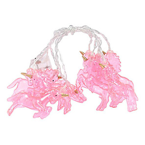 cheap LED String Lights-3m Pink Unicorn Fairy String Lights 20 LEDs Warm White Party Holiday Decorative 3 V 1 set