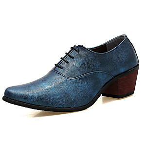 cheap Men's Oxfords-Men's Comfort Shoes PU Summer Oxfords Black / Silver / Red / Party & Evening / Party & Evening