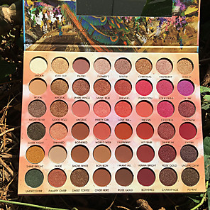 cheap Eyeshadows-48 Color Creamy eyeshadow pallete Glitter Makeup Matte Eye shadow High Pigmented palette maquillage paleta de sombra