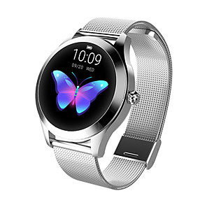 cheap Smart Wristbands-Smartwatch Digital Modern Style Sporty PU Leather 30 m Water Resistant / Waterproof Heart Rate Monitor Bluetooth Digital Casual Outdoor - Gold Silver Silver / Black
