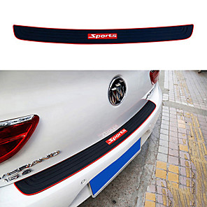 cheap Car Body Decoration & Protection-Car Trunk Bumper Guard Pad SUV Guard Protector Rubber Auto Sill Plate Bumper Guard Rubber Pad Protector Car Styling Accessariess