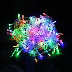 cheap LED String Lights-10m String Lights 100 LEDs 1pc Warm White White Red Creative Party Wedding 220 V