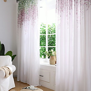 cheap Curtains & Drapes-Contemporary One Panel Sheer Bedroom   Curtains