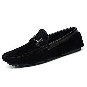 cheap Men's Slip-ons & Loafers-Men's Faux Leather Summer Casual Loafers & Slip-Ons Walking Shoes Breathable Dark Brown / Khaki / Black