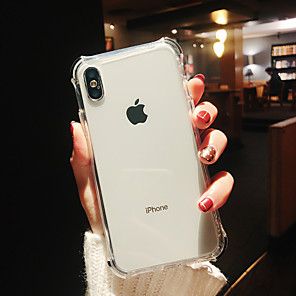 cheap iPhone Cases-Case For Apple iPhone XS / iPhone XR / iPhone XS Max Shockproof / Plating / Mirror Back Cover Transparent TPU