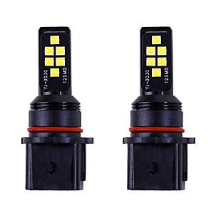 cheap Car Fog Lights-2pcs car p13w led Car Light Bulbs SMD 3030 LED Fog Lights drl 12v white amber For Toyota / Honda All years