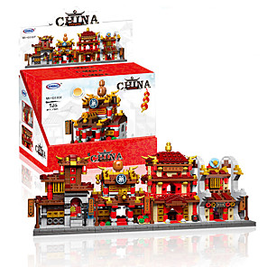 cheap Building Blocks-Building Blocks 1 pcs Chinese Architecture compatible ABS+PC Legoing Simulation All Toy Gift / Kids