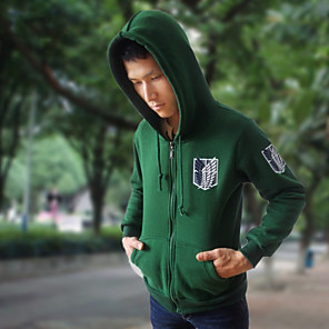 cheap Everyday Cosplay Anime Hoodies & T-Shirts-Inspired by Attack on Titan Cosplay Anime Cosplay Costumes Japanese Cosplay Tops / Bottoms Top For Men's Women's