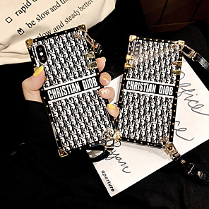 cheap iPhone Cases-Case For Apple iPhone XS / iPhone XR / iPhone XS Max /X/6/7/8/6Plus/7Plus/8Plus Shockproof / Pattern Back Cover Word / Phrase Metal