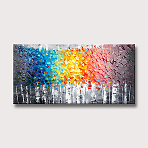 cheap Oil Paintings-Oil Painting Hand Painted Abstract Landscape Modern Rolled Canvas Rolled Without Frame