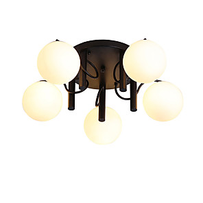 cheap Lantern Design-JSGYlights 5-Light 77 cm New Design Flush Mount Lights Metal Glass Cluster / Globe Painted Finishes Country / Nordic Style 110-120V / 220-240V / E26 / E27