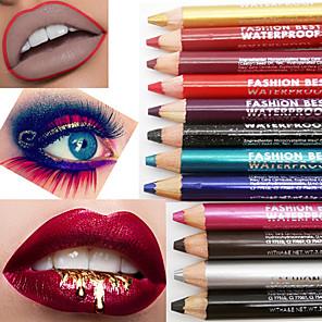 cheap Eyeshadows-Multifunction Waterproof Durable Eye Shadow Pen Lip Liner Lipstick Pen Pencil Sharpener