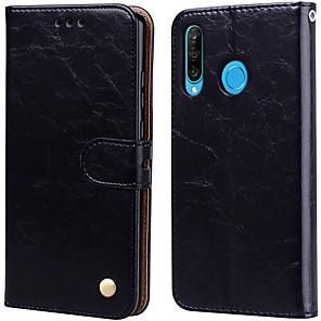 cheap Huawei Case-Case For Huawei P30 Lite Palace flower PU Leather with Card Slot Flip up and down  For Huawei P30 Lite