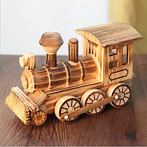 cheap Toy Cars-Toy Trains & Train Sets Train Train Office Desk Toys Simulation Wooden Kid's Kids All Toy Gift 1 pcs