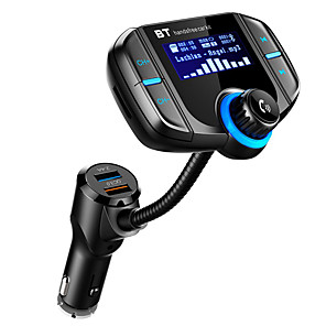 cheap Bluetooth Car Kit/Hands-free-Car MP3 Bluetooth Player Large Screen Dual USB Cigarette Lighter FM Transmitter
